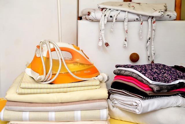 vyžehlené prádlo