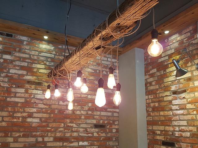 cafe osvětlení